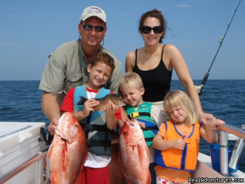 Family & Kids Reef Fishing - Family Fishing, Gulf Shores, Orange Beach, Al.