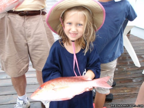 Kids Love our light tackle - Family Fishing, Gulf Shores, Orange Beach, Al.
