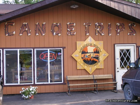 Voyageur North store front - Overnight Lodging - Boundary Waters Canoe Area