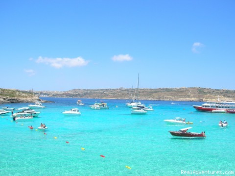 The Blue lagoon in Comino - Home stay accommodation ideal for students