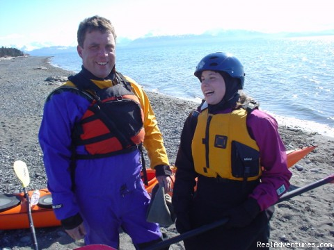 Having fun in Homer Alaska!: Mike & Kelsey going kayaking