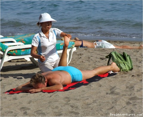 Massage on the beach! - Spring Break in Fuengirola, Costa del Sol, Spain