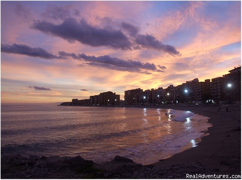 Beach Sunset Fuengirola - Spring Break in Fuengirola, Costa del Sol, Spain
