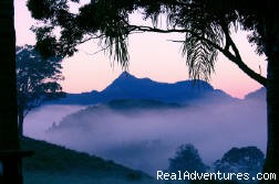 Mt Warning as the sun came up - romantic honeymoon destination in Australia