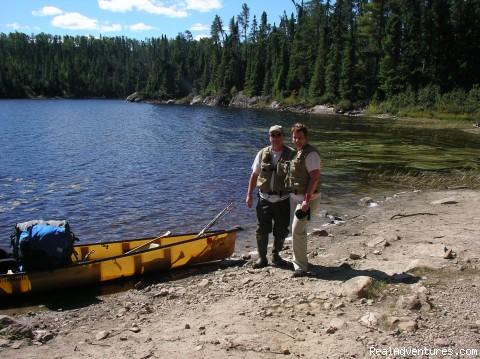 John & Lynn at landing (#4 of 11) - Ontario/Quetico Park canoe trip