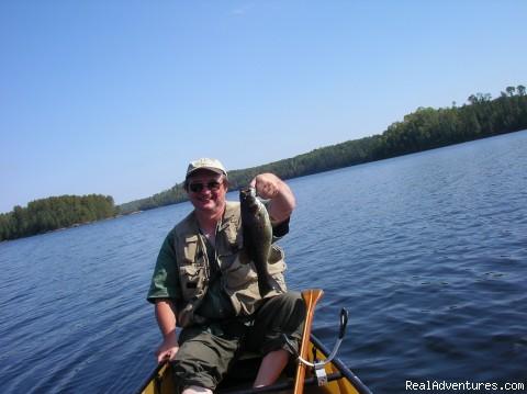 John & a nice fish (#7 of 11) - Ontario/Quetico Park canoe trip