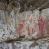 Indian pictographs on Quetico Lake near Beaverhouse