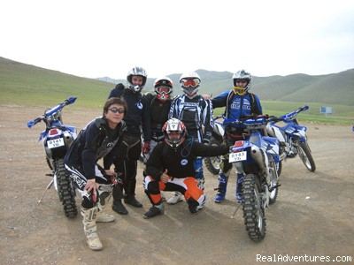 International group photo at Erdenet (#2 of 6) - Bike Mongolia - Freedom Unlimited