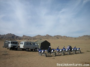 Motorcycle trip in the Gobi Desert - Experience Mongolia