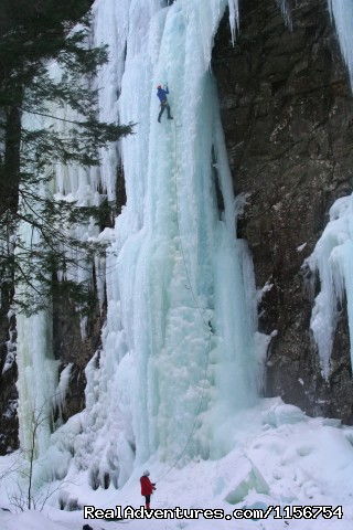 Bridgework WI5 Black Chasm, Catskills - Mountain Skills Climbing Guides- rock/ice climbing