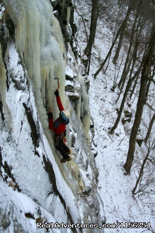 Stoney Clovey ice climbing, Catskills - Mountain Skills Climbing Guides- rock/ice climbing