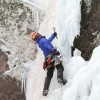 Ice climbing Little Black Dike WI4 Stoney Clove, Catskills