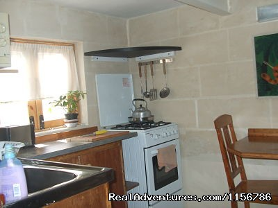 Communal main kitchen area - Budget Getaway  at Sliema Homestay Malta