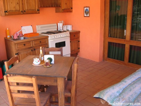 Fully equipped eat-in kitchen - Casa Machaya Oaxaca Bed & Breakfast