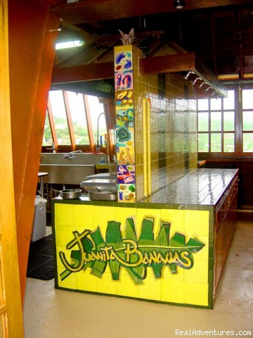 Entrance to kitchen - Juanita Bananas Celebrate Caribbean Island Cookery