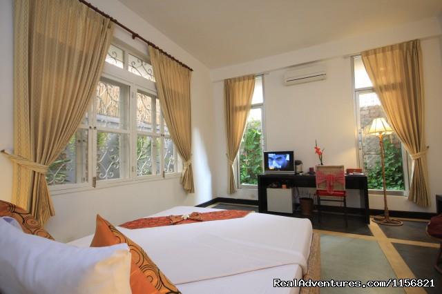 Deluxe Double Room - Frangipani Villa-90s Hotel