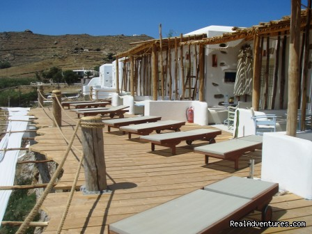 DECK FRONT OF THE STUDIOS - Sea Side Mykonos At The Unique Beach Kalo Livadi