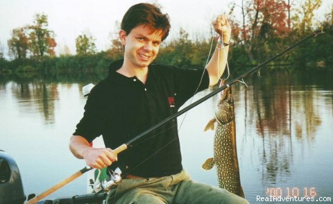 Fishing & Nature Holiday in Hungary: Great fishing experience: pike caught on River Tisza