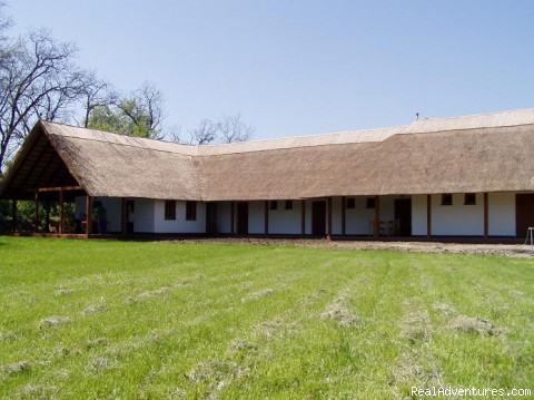 Dorogma Panzió building, garden view - Fishing & Nature Holiday in Hungary