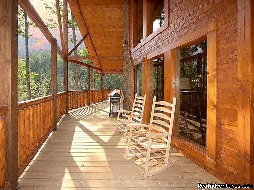 Large Decks with views of the Smokies