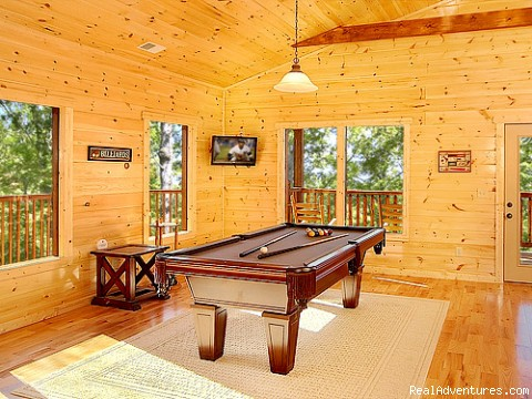 Pool Table - Luxury Gatlinburg Cabins with Theater Rooms