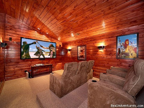 Home Theater Room with 9 Foot Screen (#1 of 6) - Luxury Gatlinburg Cabins with Theater Rooms