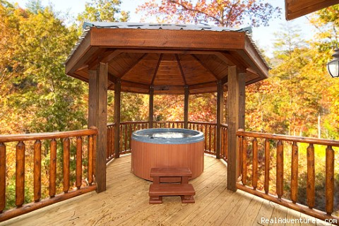 Private Hot Tub - Luxury Gatlinburg Cabins with Theater Rooms