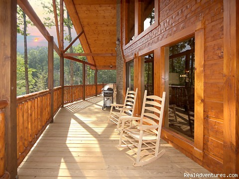 Large Decks with views of the Smokies - Luxury Gatlinburg Cabins with Theater Rooms