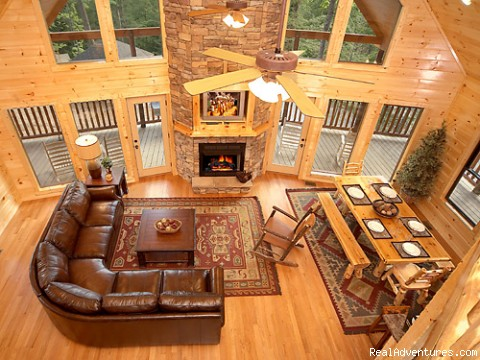 Open Great Rooms - Luxury Gatlinburg Cabins with Theater Rooms