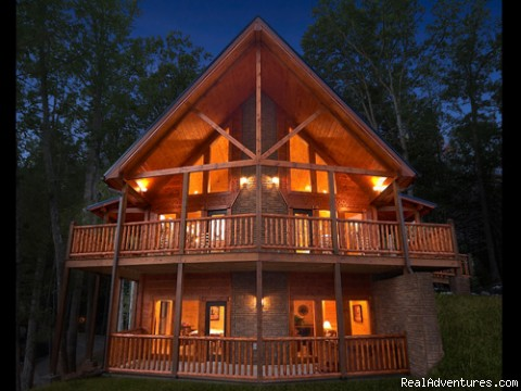 Cabin at Night (#6 of 6) - Luxury Gatlinburg Cabins with Theater Rooms