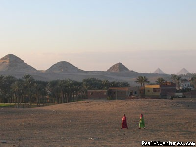Abu sir Ruins from distance - Egypt Horse  and Dune Buggies Tours