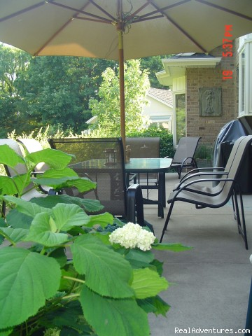 Back yard patio - Ben Brae-on-the-Park