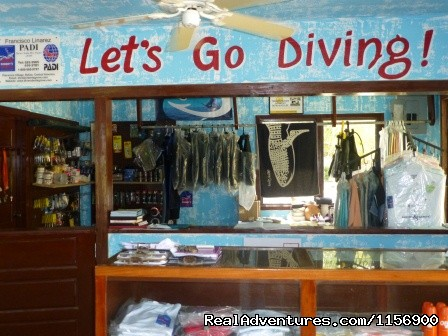 Inside our dive store gift shop - Robert's Grove Beach Resort
