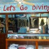 Inside our dive store gift shop