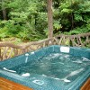 Deer Lodge Hottub on back porch
