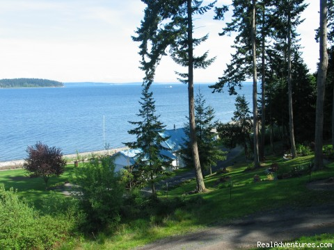 View from Deck - Olympic Peninsula's Oak Bay Getaway
