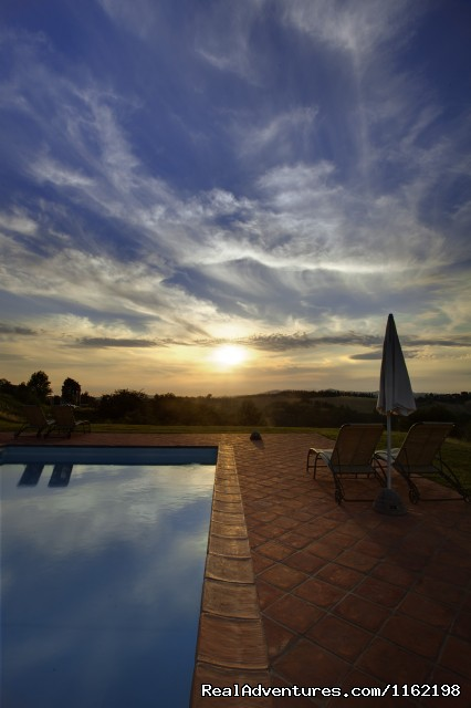 View from one of the villa pools - Tuscany Farm Holiday Hotel Florence Italy