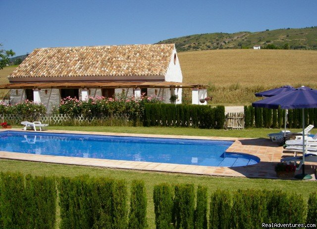 A stunning high specification 2bed 2bath country villa (sleeps 2-6) and a beautifully restored 3bed 2bath farmhouse apartment (sleeps 2-8) with large fenced and landscaped pool. Only 10 min from historic picturesque Ronda, Andalucia, Southern Spain