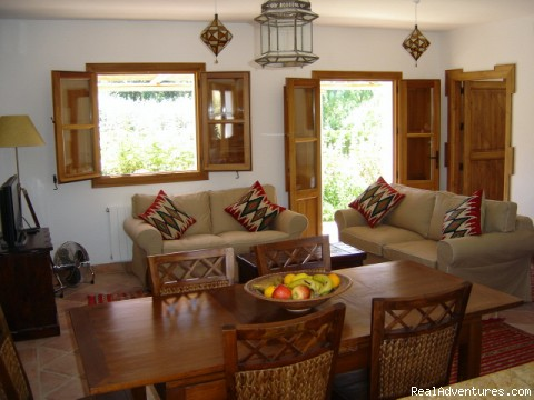 Casa Abuela dining area - Self-catering Vacation Ronda Andalucia Spain