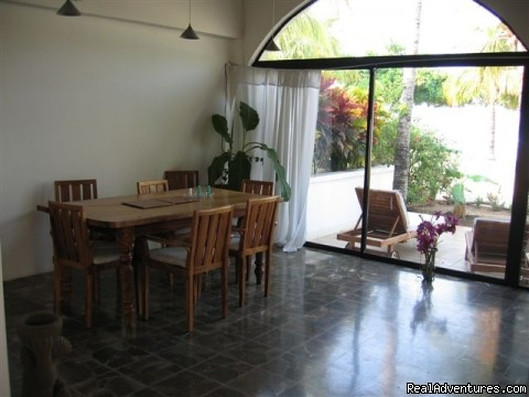 Oceanfront  Vacation Rental Dining Room - Oceanfront Playa Grande Vacation Rental Costa Rica