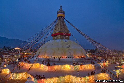 Bouddhanath Stupa in Kathmandu - Looking for great vacation deals?Glimpses of Nepal