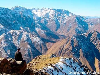 Adventure In High Atlas Mountains And Desert: top of ski station in morocco 3200m