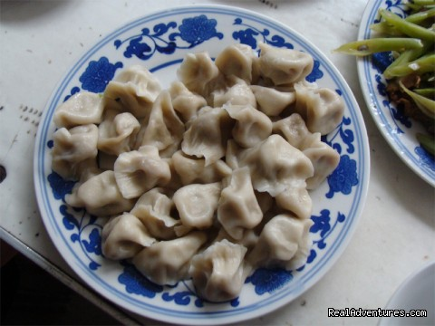 Dumplings in local farmer's restaurant - Small Group Discovery Great Wall Hiking (3 days)