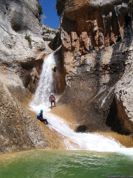 Abseil and tobogan in a canyon | Image #1/6 | Las Almunias de Rodellar, Spain | Sight-Seeing Tours | Canyoning and adventure in Sierra de Guara - Spain