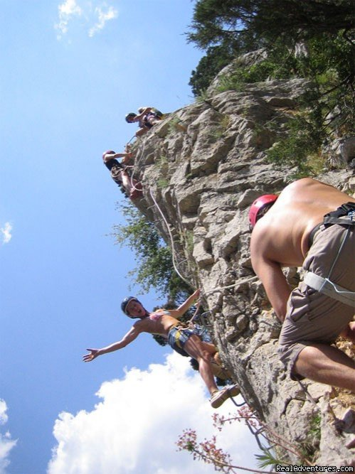 Via ferrata: a new way to enjoy the cliffs | Image #3/6 | Canyoning and adventure in Sierra de Guara - Spain
