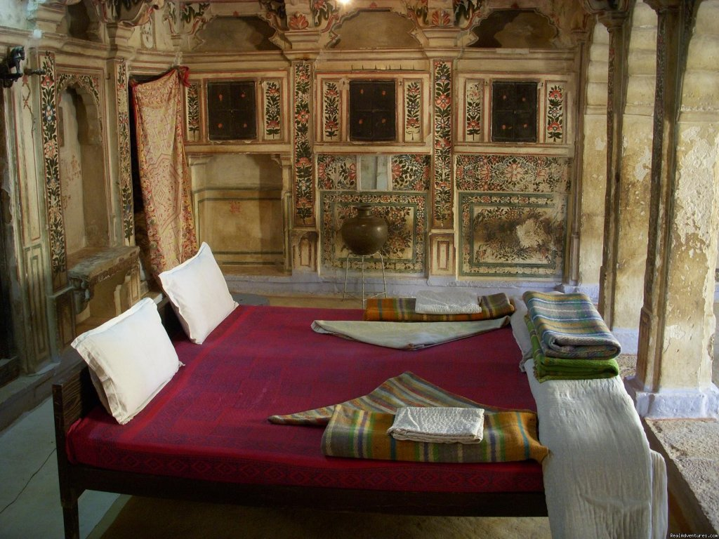 Hotel Suraj is a 500 year old Haveli. Hotel Have heritage suite rooms which take you back to the 15th century. It is totally a Haveli Home Stay and you can also relax on the rooftop enjoying sunset with a sip of  Masala Chai. A REAL RAJASTHAN HOUSE