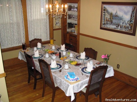 Breakfast in the Dining Room - A Charming Victorian Bed and Breakfast