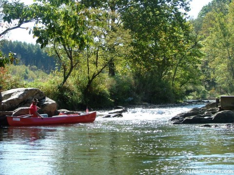 Canoeing, kayaking, and tubing in the mountains