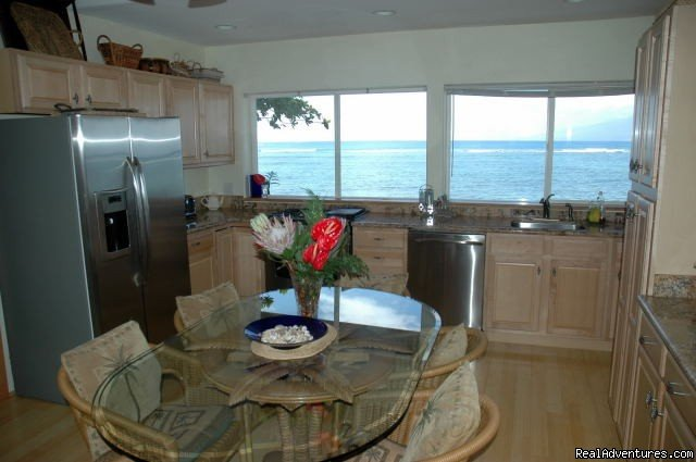 Ocean Views in the Spacious Kitchen | Image #3/8 | Ocean Front Lahaina Sunset Home!
