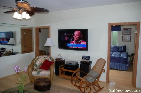 Large Living Room w/ Flat Screen TV - Ocean Front Lahaina Sunset Home!